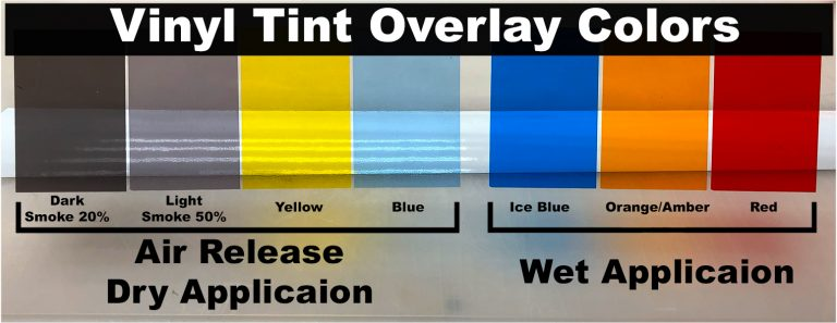 Tint Film Color Chart