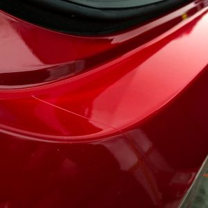 Rear bumper paint protection