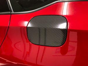 fuel door overlay